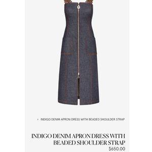 NWT EDUN indigo denim apron dress